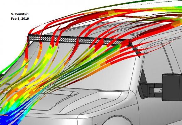 LED Light Bar Aerodynamics