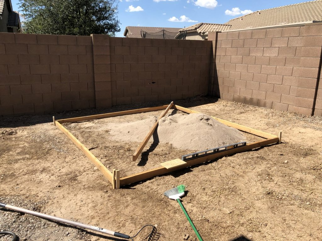 Frame for hot tub pad