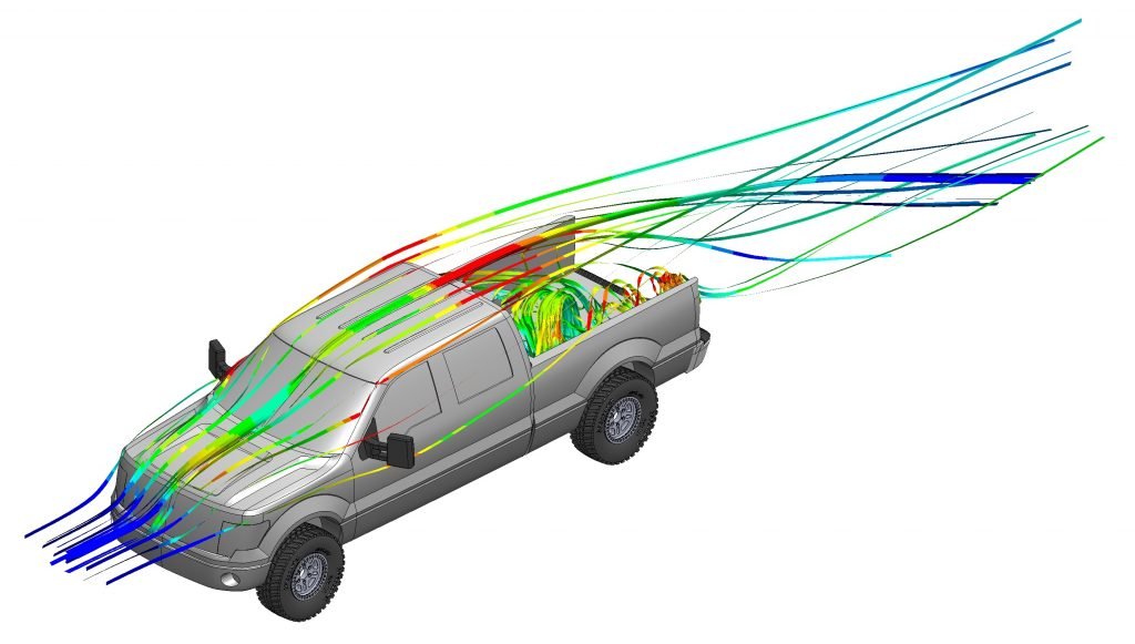 f150 pickup truck aerodynamics without tailgate