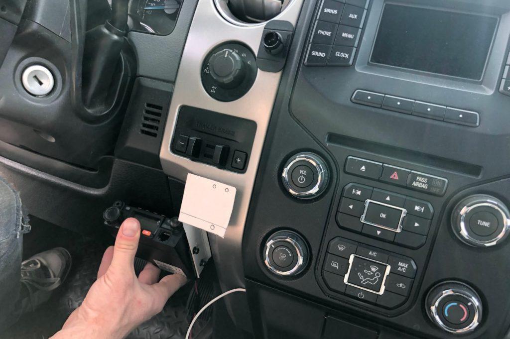 offroad overland radio setup mobile radio mount uhf vhf dual band