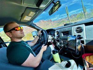 Valentin Ivanitski driving 2014 f150 overland truck