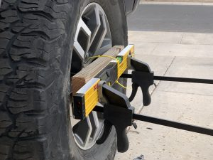 DIY harbor freight laser level wheel alignment