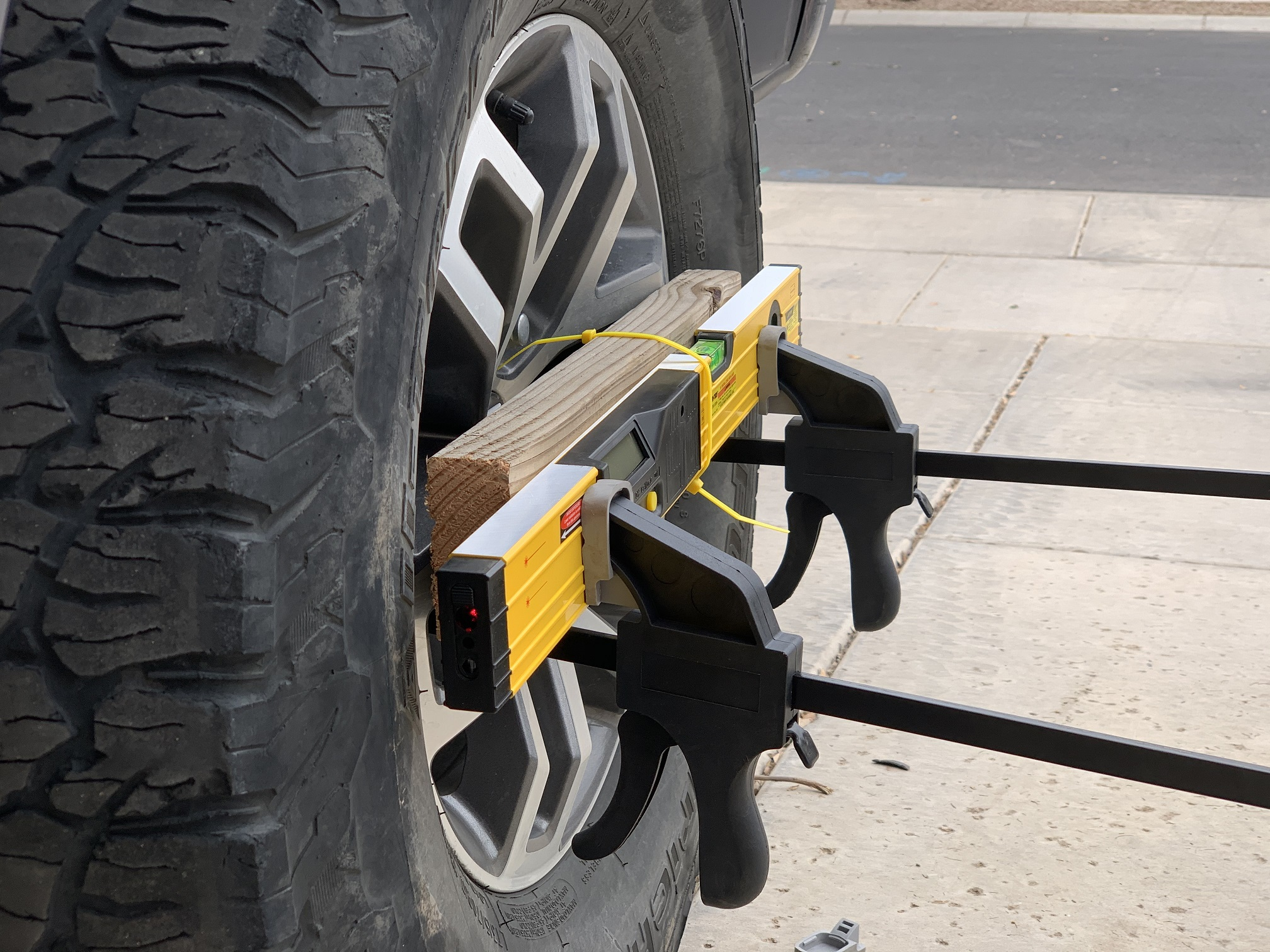 DIY Wheel Alignment – Laser Level