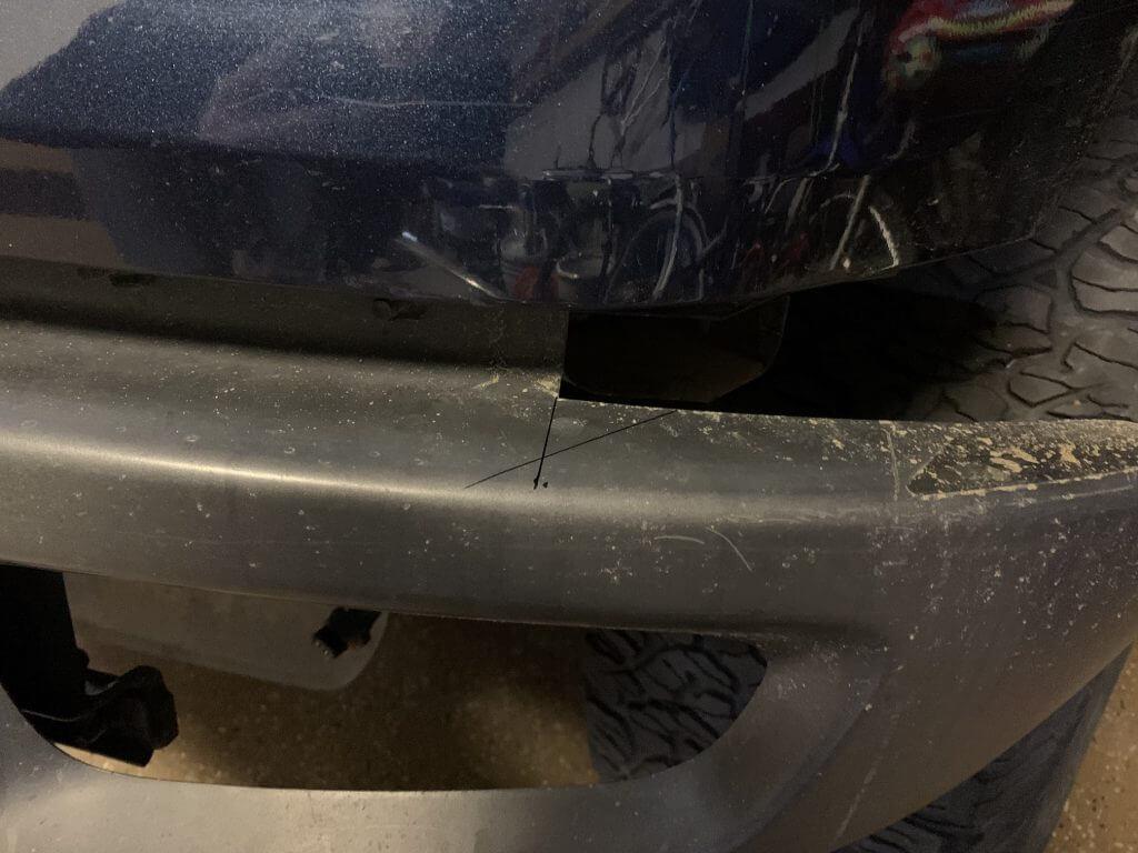 DIY F150 raptor bumper swap cutting