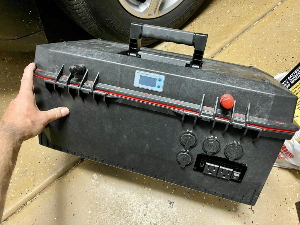 DIY home made toolbox power station deep cycle battery pack for camping