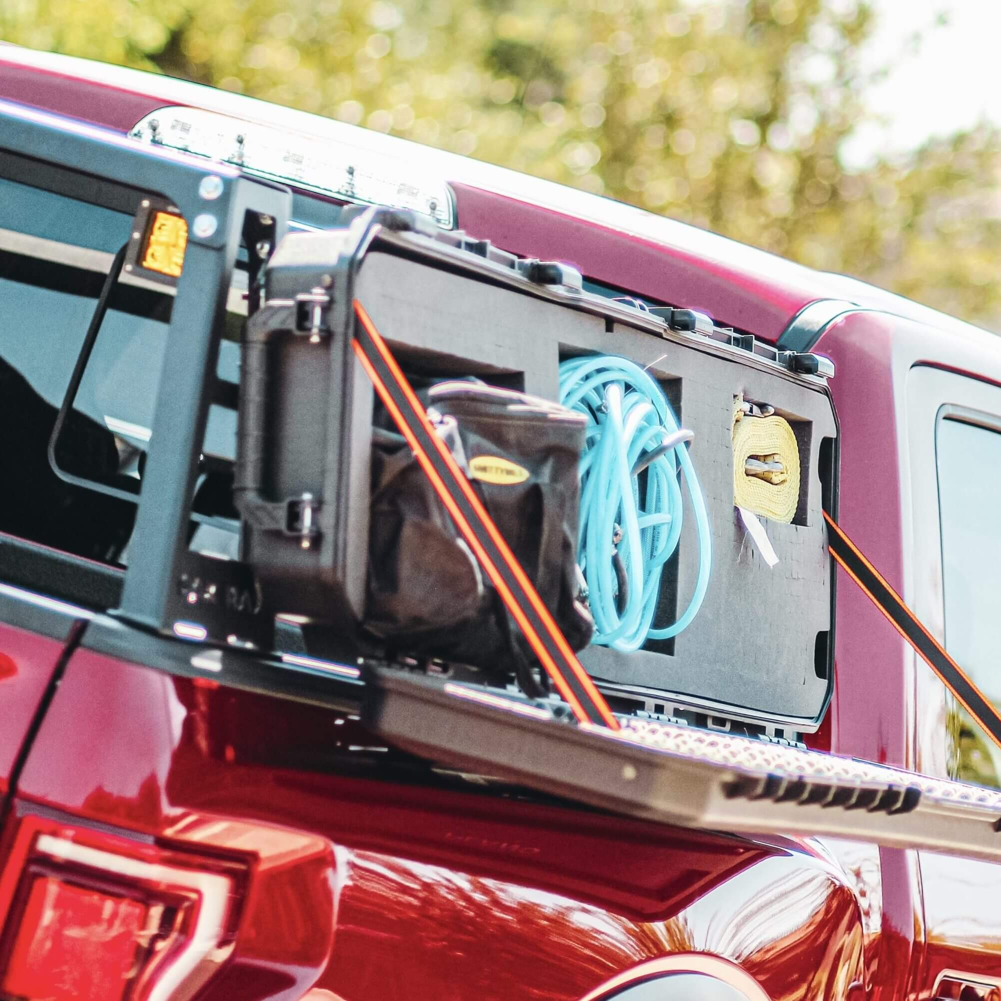 Overlanding Bed Rack Tool Storage