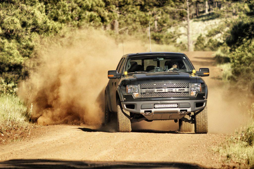 Ford Raptor Truck offroad drift