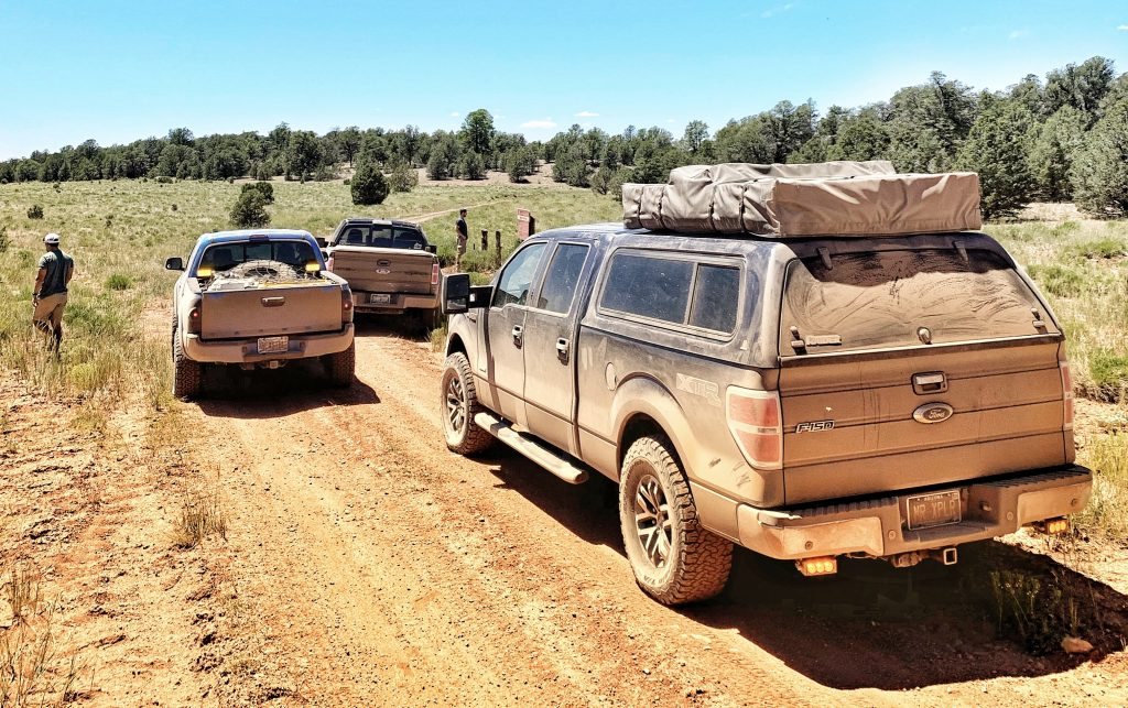 xplrcreate 2014 f150 with smittybilt roof top tent overlander xl amber chase lights