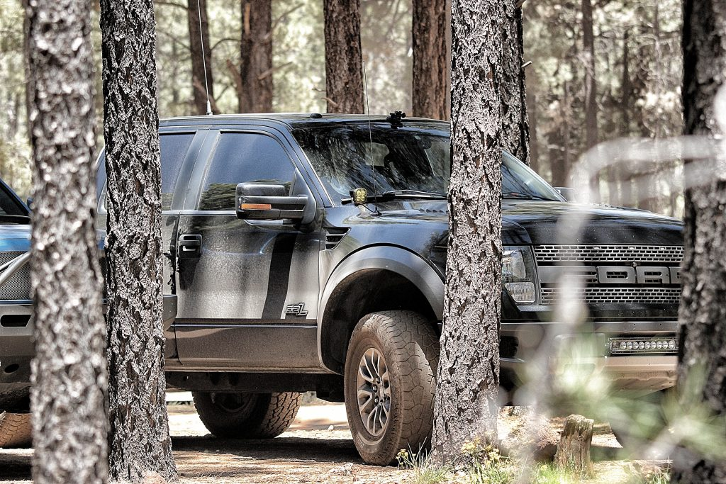 2012 Ford Raptor at Flagstaff Lava Tube Caves