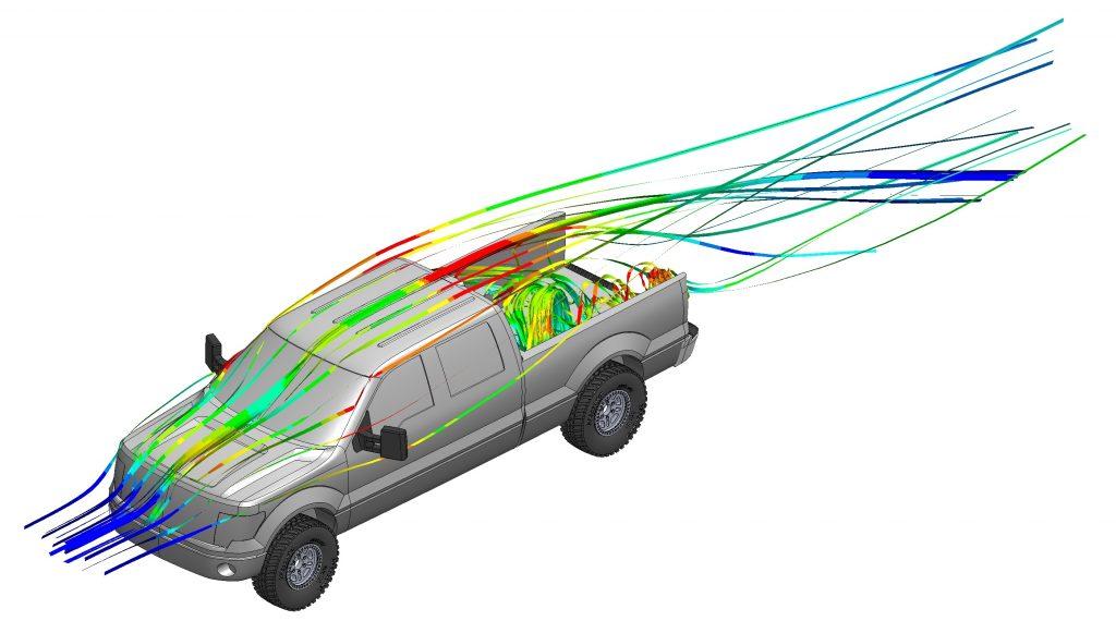 f150 pickup truck aerodynamics without tailgate