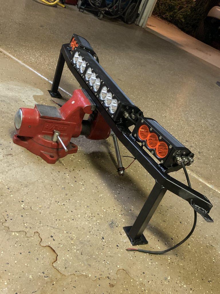 2014 f150 LED lightbar behind grill DIY bolt in boltin