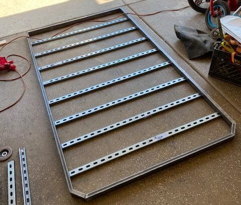 Lay out the pieces first prior to welding the DIY 4Runner roof rack