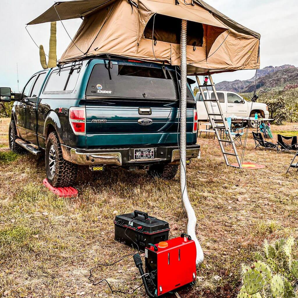 Safe, Affordable, Roof Top Tent Heater