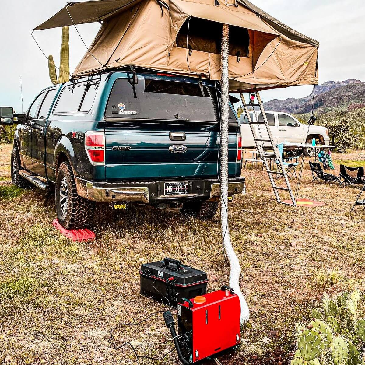 Chinese diesel parking heater used for roof top tent