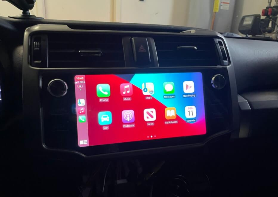 Android Radio T10 with Apple CarPlay in 5th gen 2016 toyota 4runner